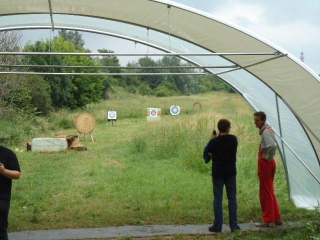 Union Bogensportclub Artemis Wien   Überdachung Freiplatz Favoriten